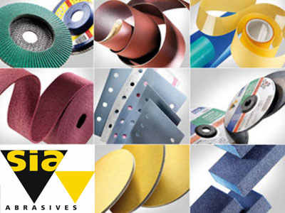 sia Abrasives sanding pads, belts and discs
