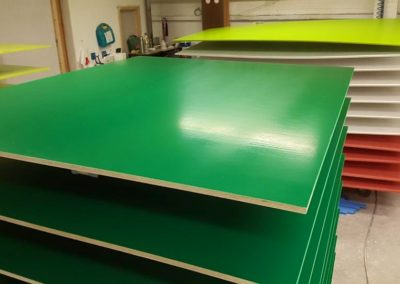 Coloured Panels for a School